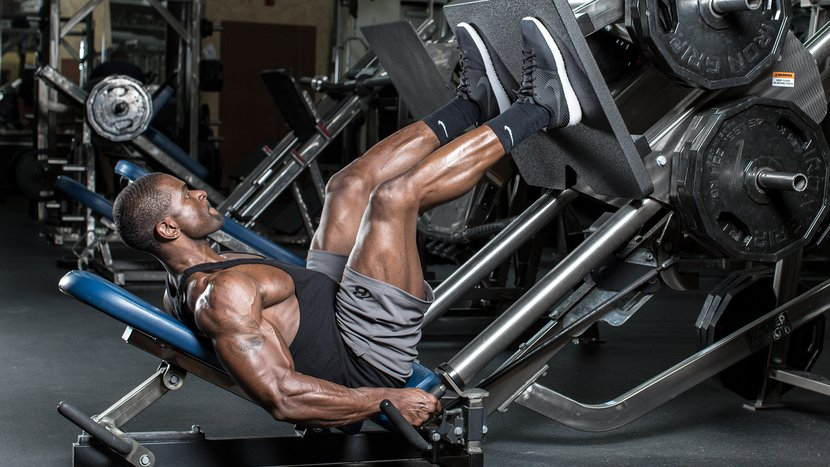 Training in the gym for men