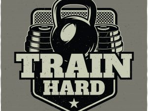 Gym quotes: train hard