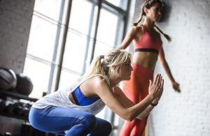 Women bodyweight training